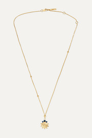 Foundrae Air 18-karat gold sapphire necklace
