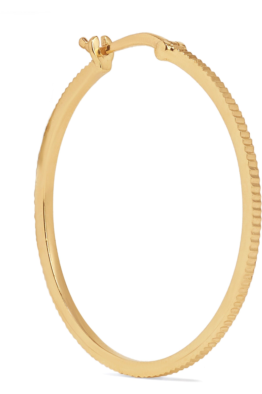 Foundrae Mittelgroße Creole aus 18 Karat Gold mit Lapislazuli