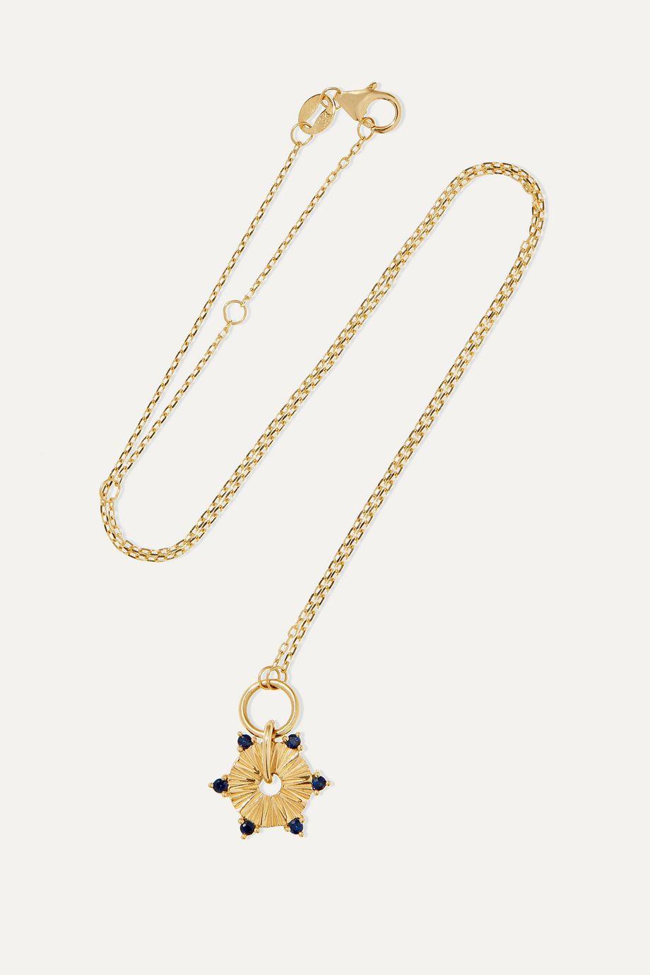 Foundrae 18-karat gold sapphire necklace