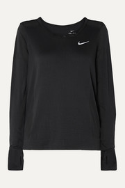 Nike Infinite mesh-paneled Dri-FIT stretch-jacquard top