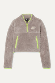 Nike Shell-paneled fleece sweatshirt