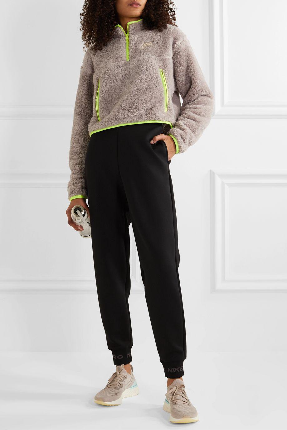 Nike Shell-paneled fleece sweatshirt
