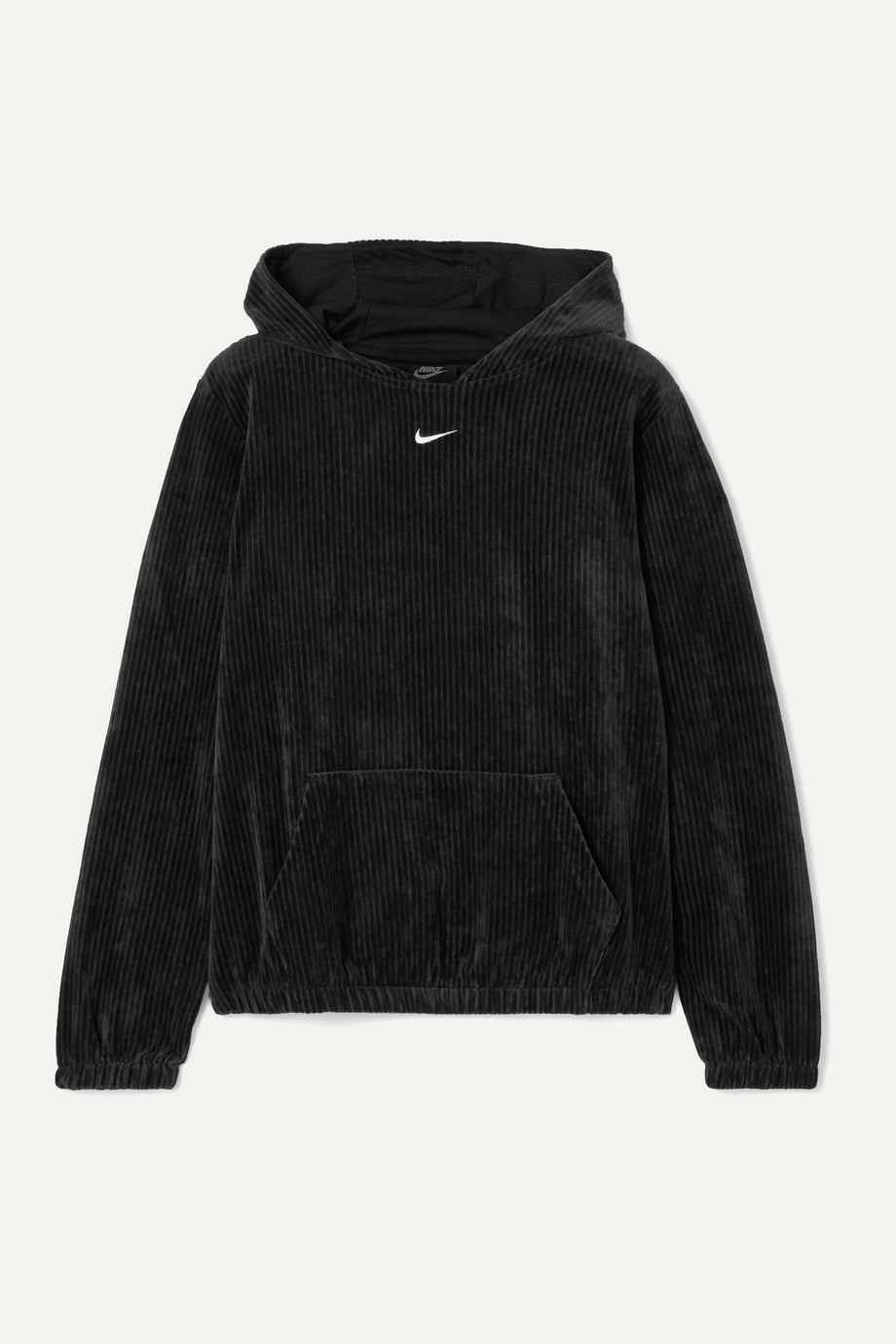 Nike Ribbed cotton-blend velour hoodie