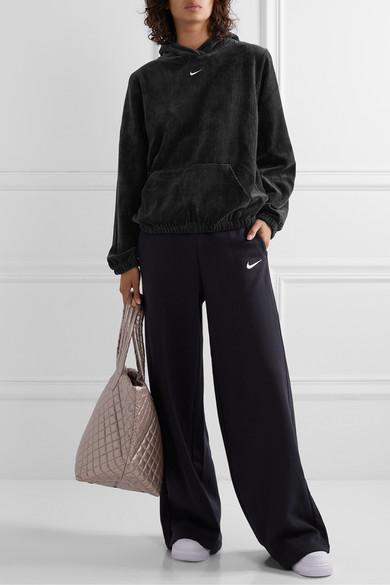 Nike | Sweat à capuche en velours de coton mélangé côtelé