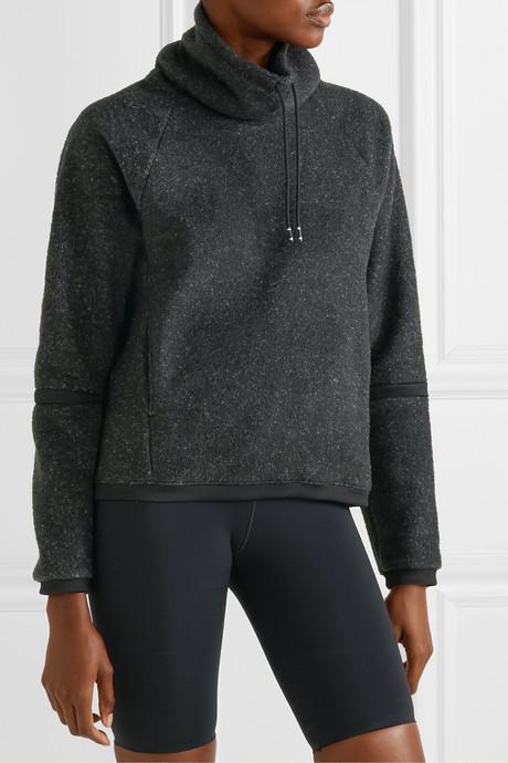 Therma mélange fleece turtleneck sweatshirt