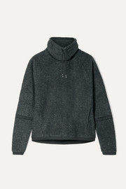 Therma mélange fleece turtleneck sweatshirt