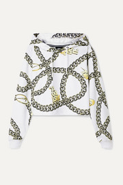 Nike Glam Dunk cropped printed tech-jersey hoodie