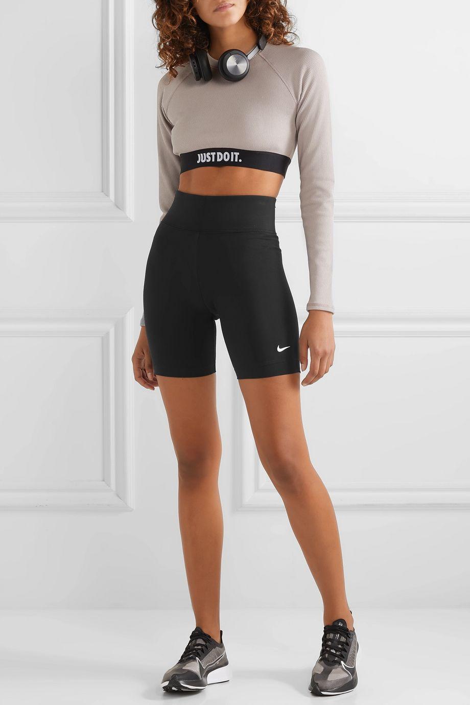 Nike Leg-A-See stretch cotton-blend jersey shorts