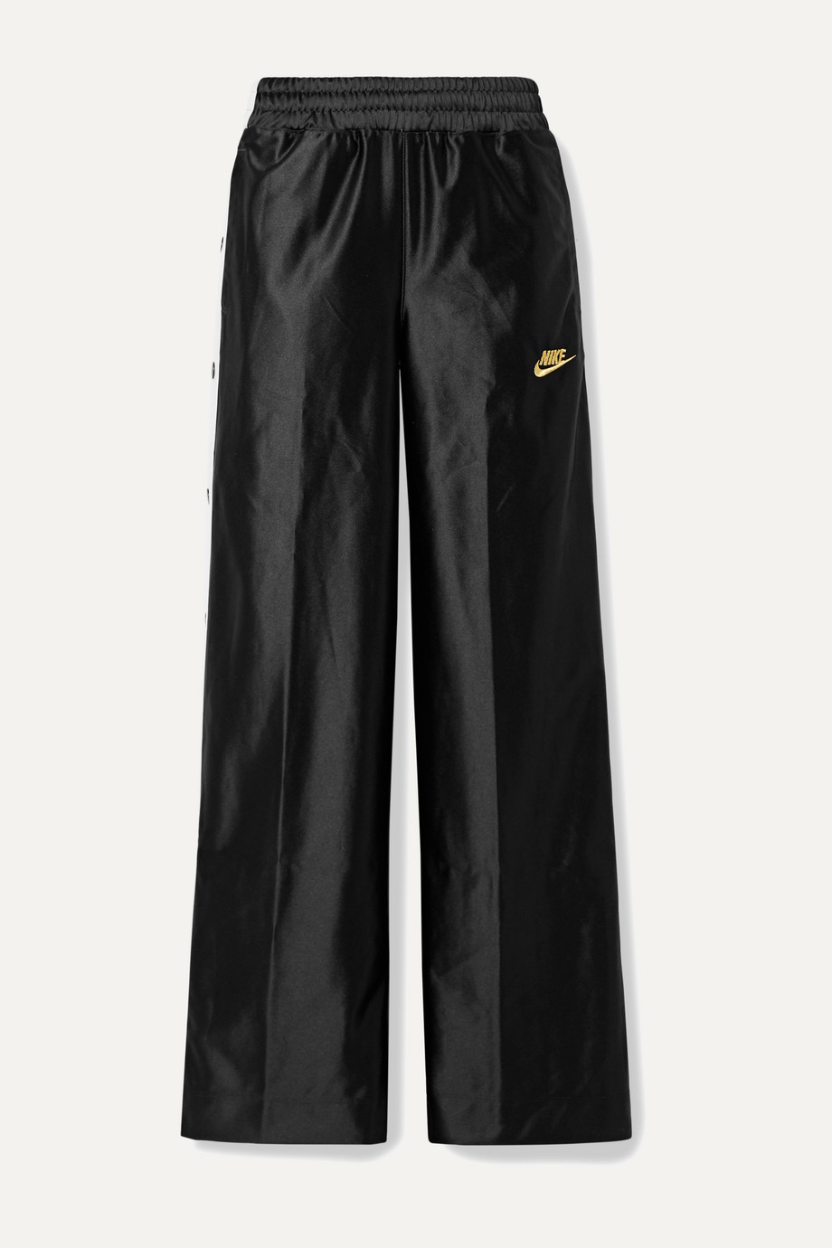 Nike Glam Dunk striped satin-jersey track pants