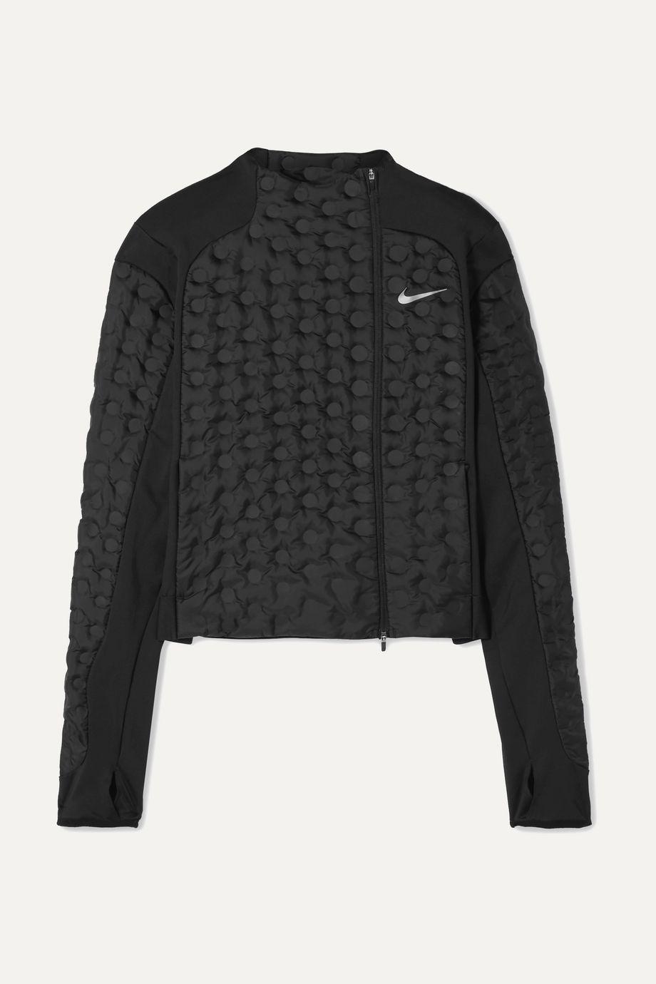 Nike AeroLoft paneled stretch-jersey and padded shell down jacket