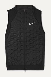 Nike AeroLoft printed quilted shell down and stretch-jersey vest