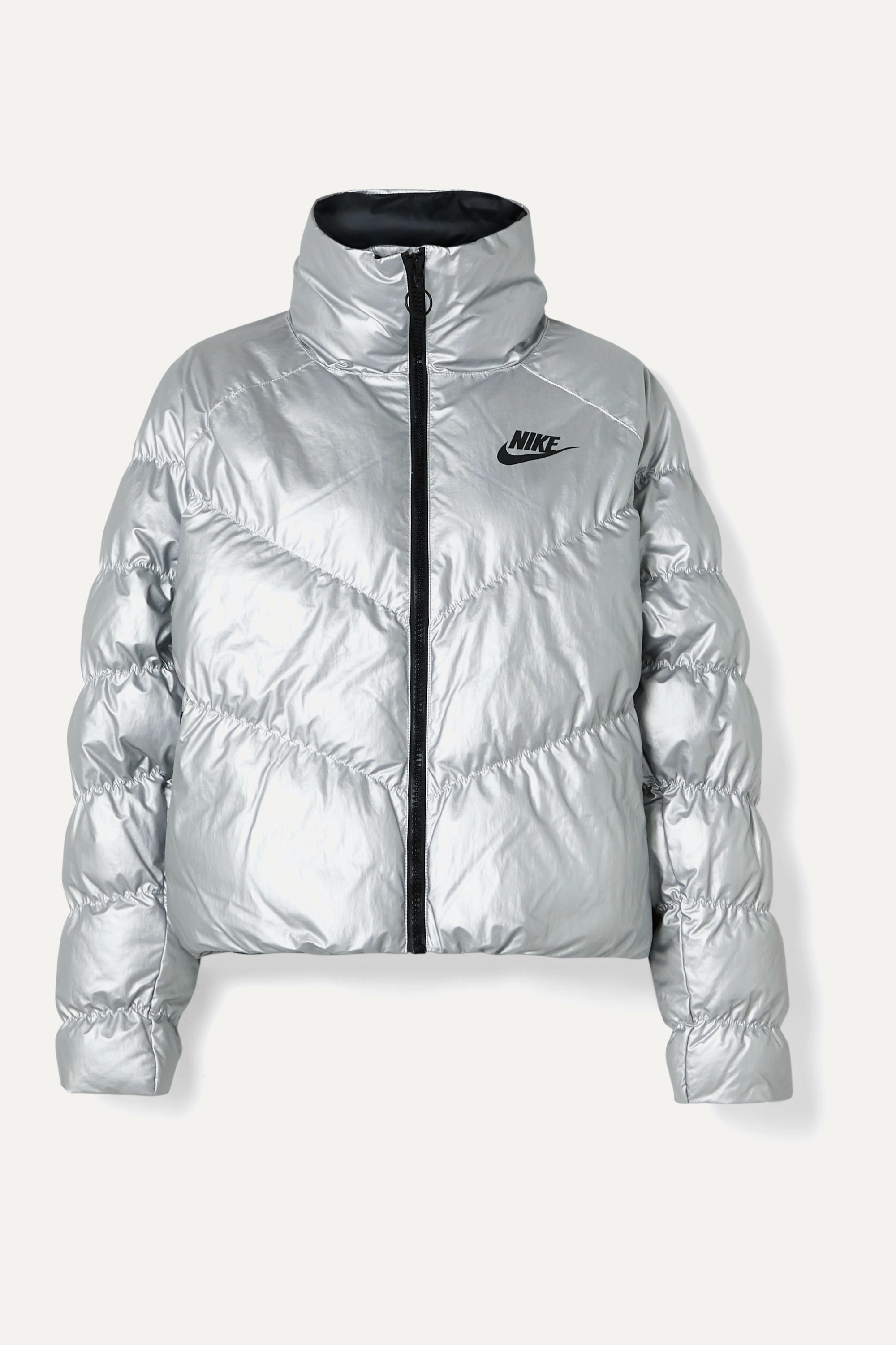 Nike Quilted padded metallic shell jacket