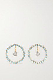 Mateo 14-karat gold, topaz and diamond earrings