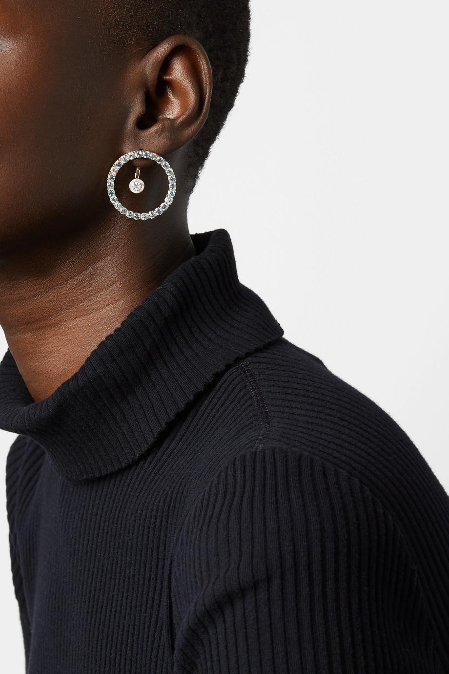 Mateo 14-karat gold, topaz and diamond earrings