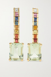 Mateo Somewhere Over the Rainbow 14-karat gold multi-stone earrings