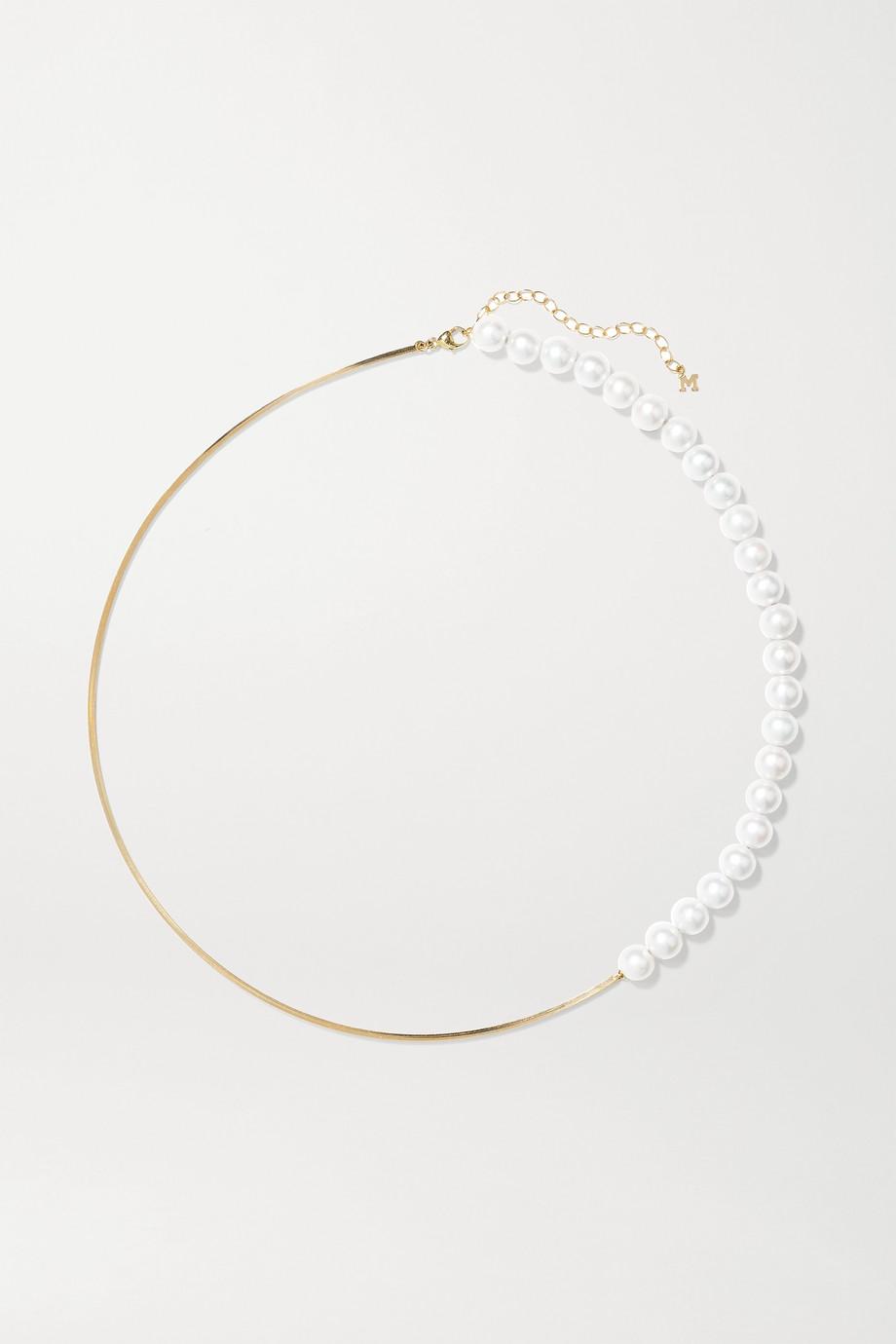 Mateo Halsreif aus 14 Karat Gold mit Perlen