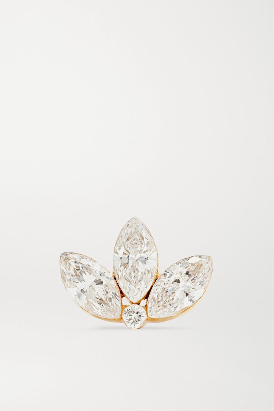 Maria Tash Lotus Ohrring aus 18 Karat Gold mit Diamanten
