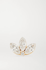 Maria Tash Lotus 18-karat gold diamond earring