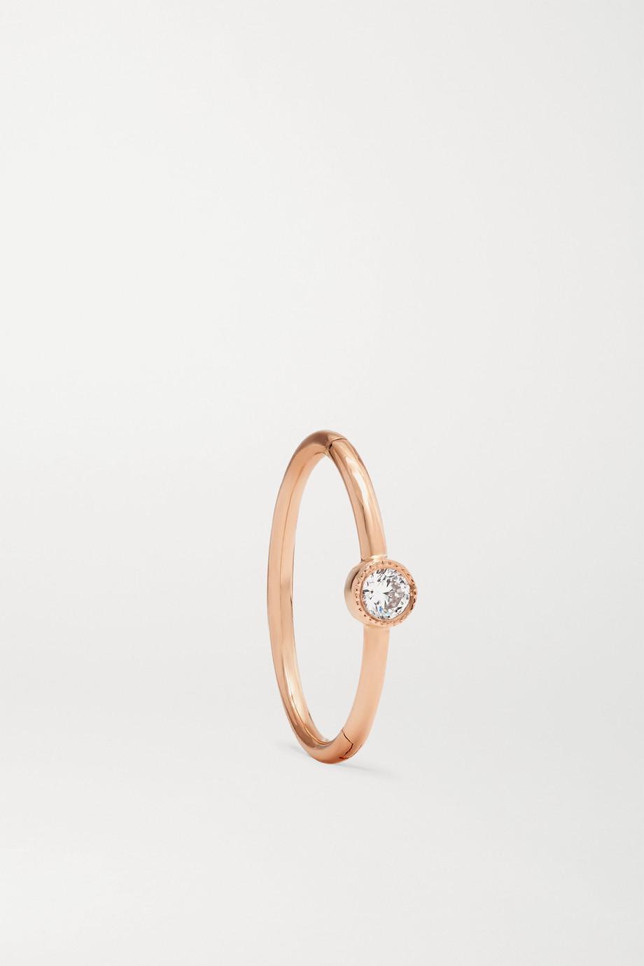 Maria Tash 11mm 18-karat rose gold diamond hoop earring