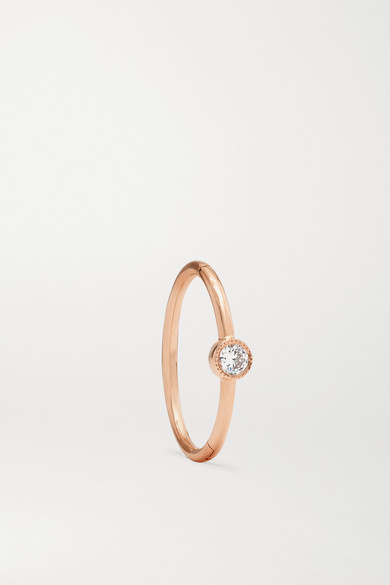 11mm 18 Karat Rose Gold Diamond Hoop Earring by Maria Tash