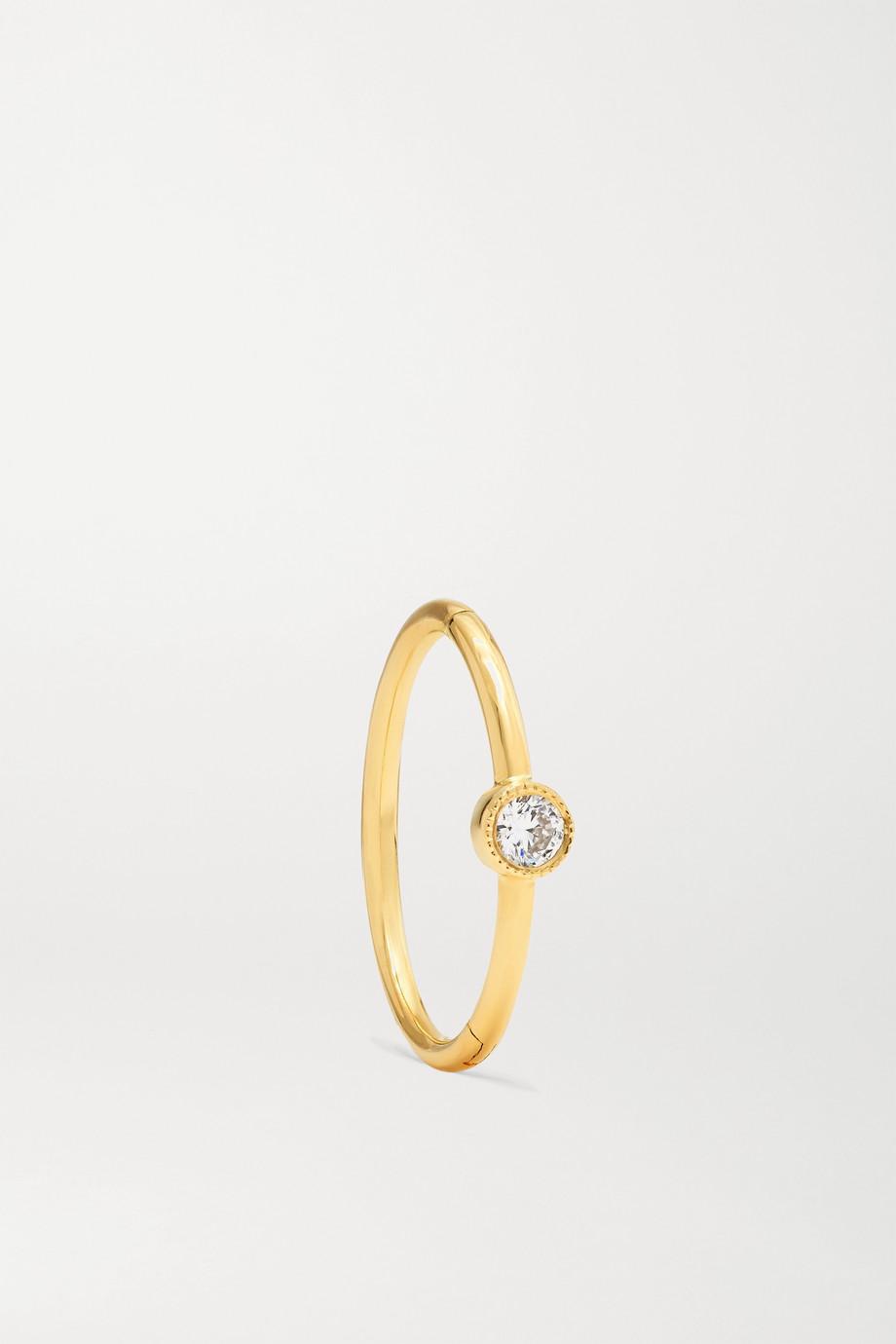 Maria Tash Boucle d'oreille en or 18 carats et diamant 11 mm