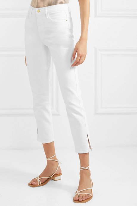Le Sylvie cropped high-rise straight-leg jeans
