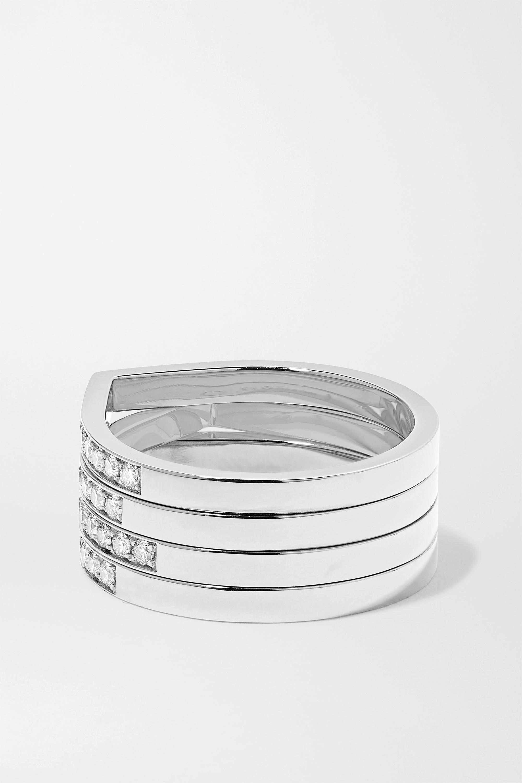 Repossi Antifer 18-karat white gold diamond ring