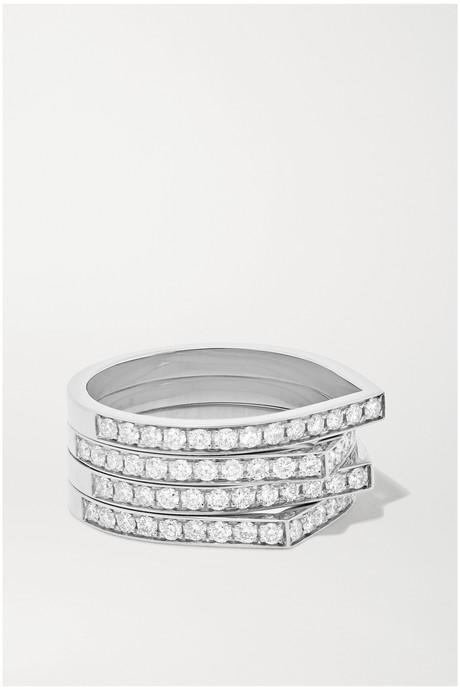 White gold Antifer 18-karat white gold diamond ring   Repossi nLs4hM