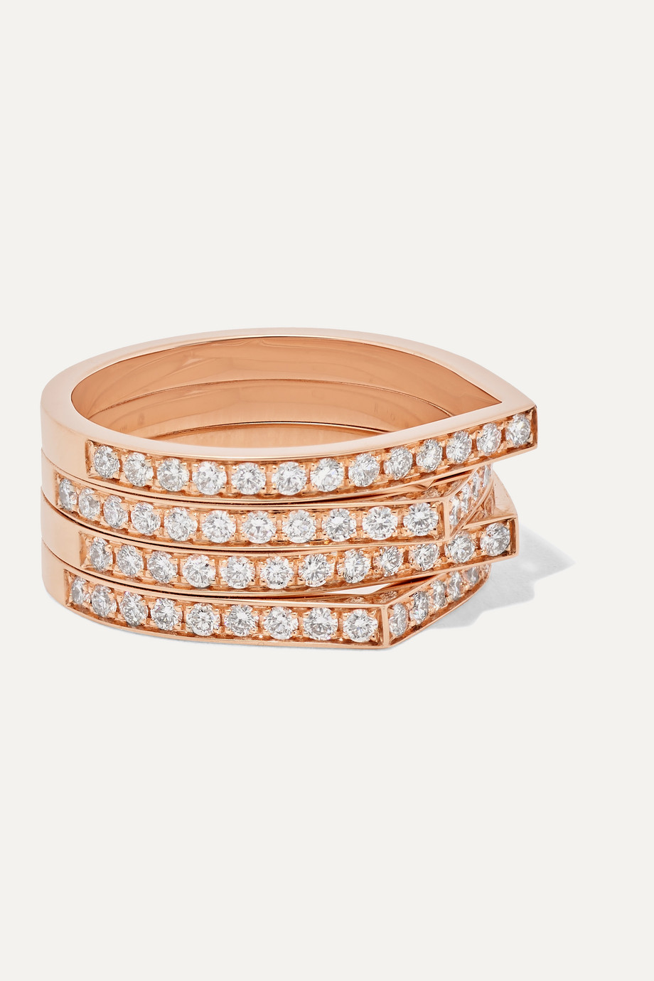Repossi Antifer Ring aus 18 Karat Roségold mit Diamanten