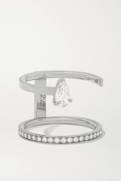 White gold Serti Sur Vide 18-karat white gold diamond ring | Repossi ILPmuU
