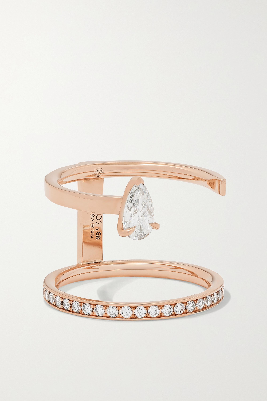 Repossi - Serti Sur Vide 18-karat rose gold diamond ring