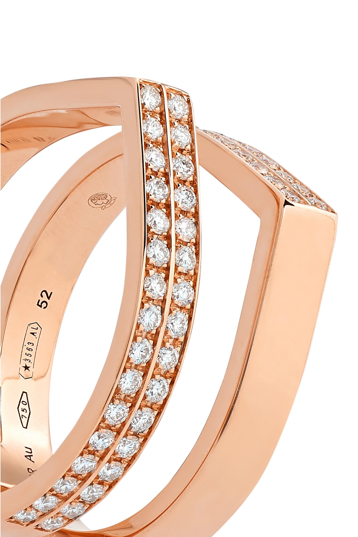 Repossi Antifer Ring aus 18Karat Roségold mit Diamanten
