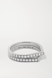 Repossi Antifer 18-karat white gold diamond ring