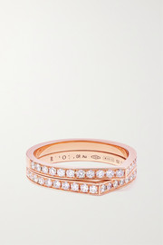 Repossi Antifer 18-karat rose gold diamond ring