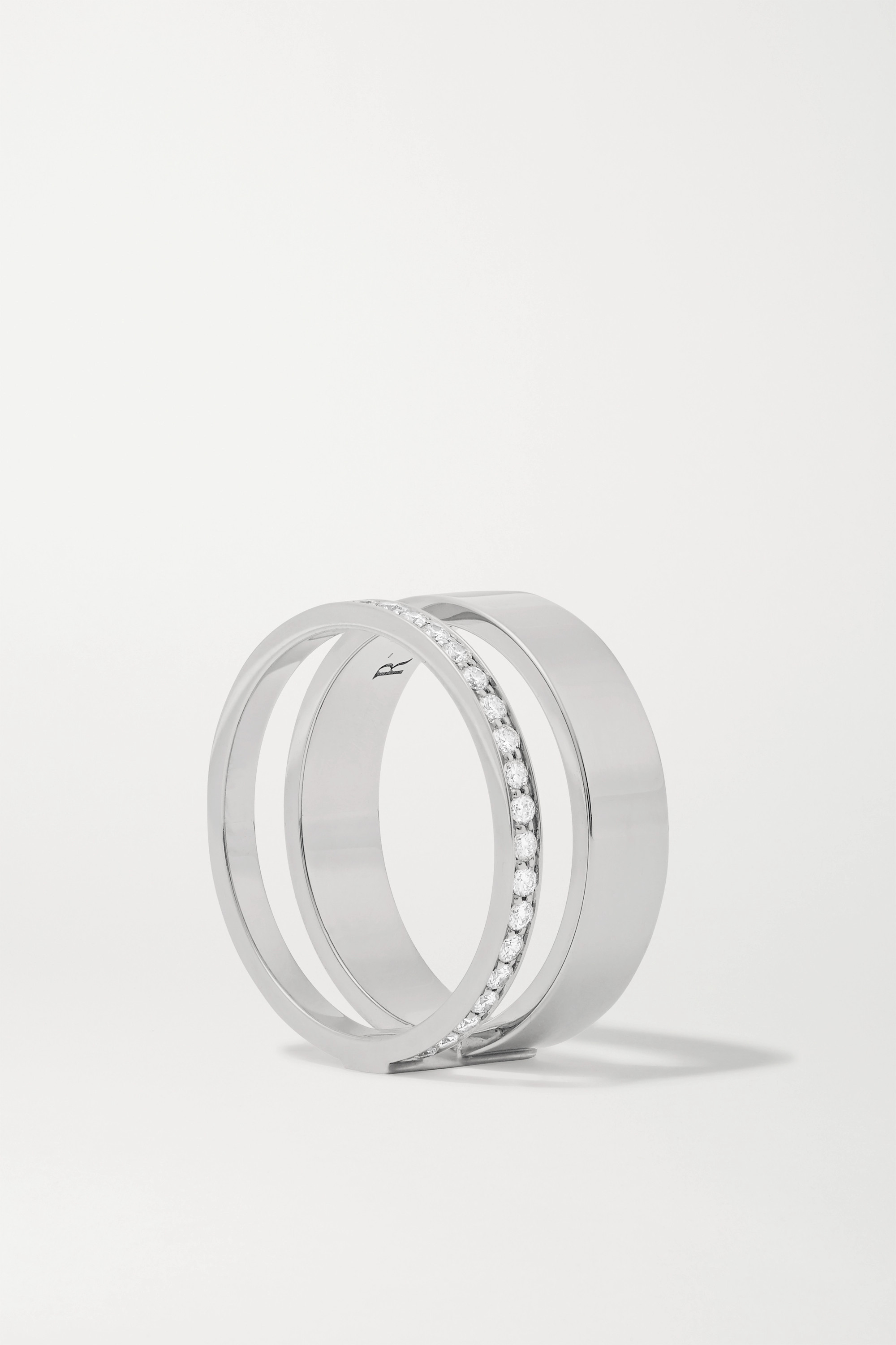 Repossi Berbère Module 18-karat white gold diamond ring