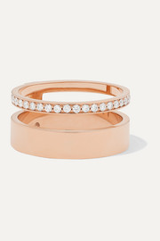 Repossi Berbère Module 18-karat rose gold diamond ring