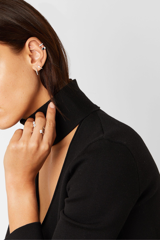 Repossi Berbère Module Ear Cuff aus 18 Karat Weißgold mit Diamanten