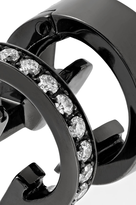 Gold Berbère Module 18-karat Black Gold-washed Diamond Ear Cuff | Repossi