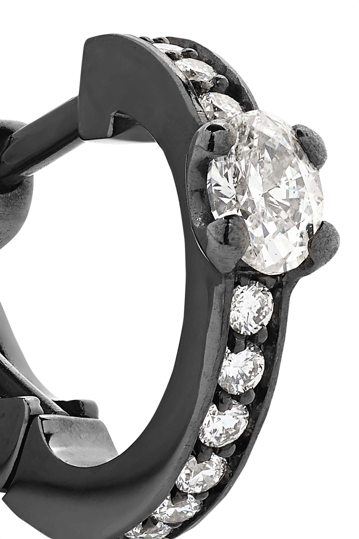 Repossi Harvest 18-karat black gold-washed diamond earring