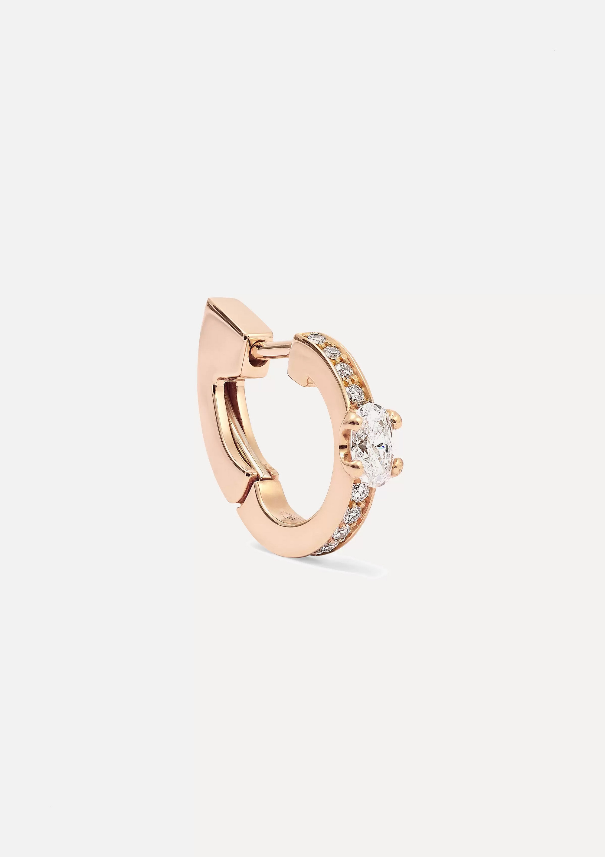 Repossi Harvest 18-karat rose gold diamond earring
