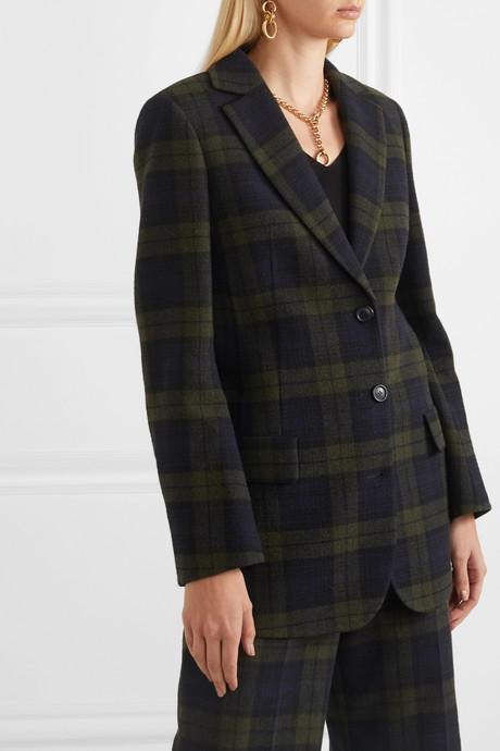 Datson checked wool-blend blazer