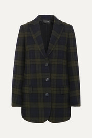Akris Datson checked wool-blend blazer