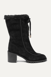Buffy 65 shearling-lined suede boots
