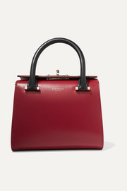 Serapian Villa mini color-block leather tote
