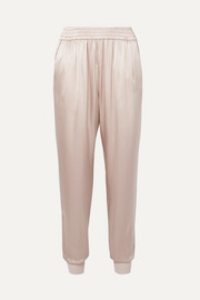 Cami NYC The Sadie silk-charmeuse track pants