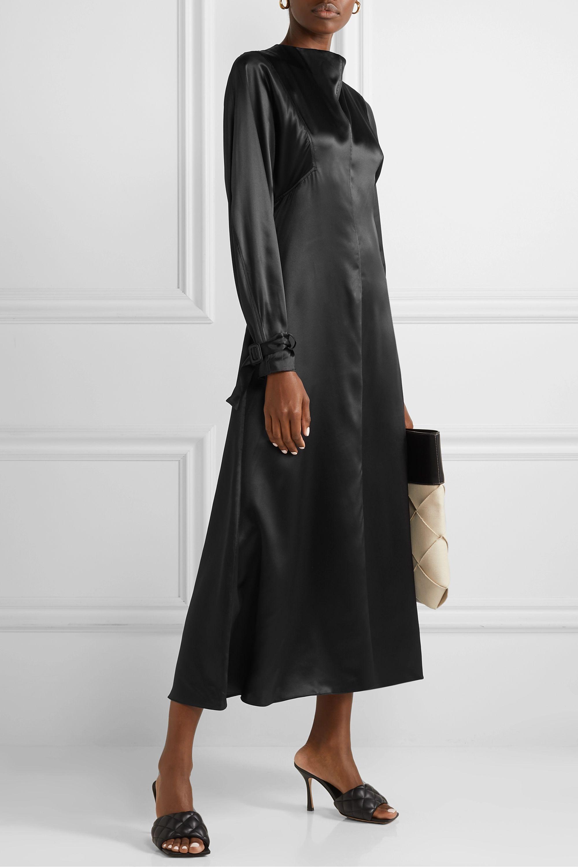 BITE Studios Organic silk-satin midi dress