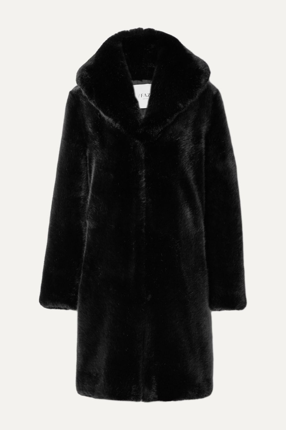 Faz Not Fur Dark Knight faux fur coat