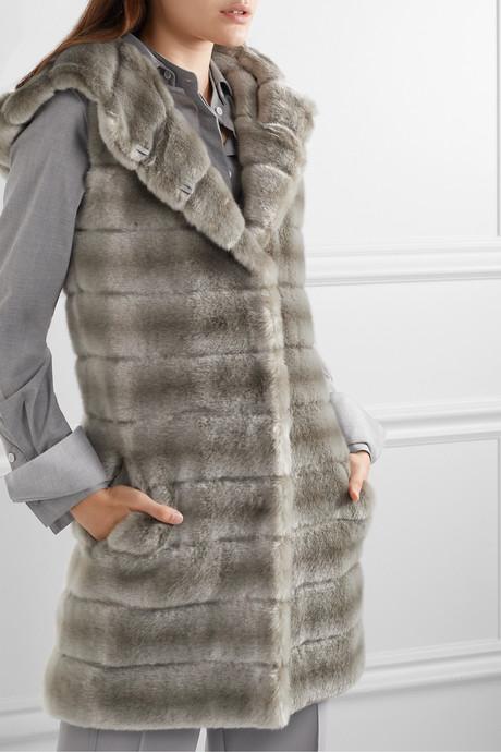 Oh My Deer hooded faux fur vest