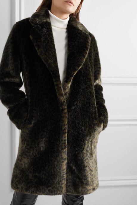 Snow Leo faux fur coat