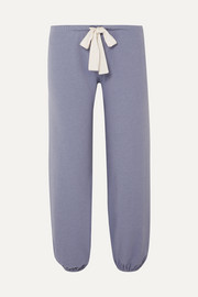 Eberjey Heather cotton-blend jersey pajama pants
